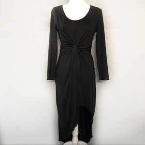 Cute Black Hi-Low Twist Dress